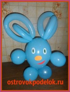 Необычный заяц из воздушных шаров