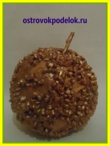 Золотое яблочко ( папье-маше, мастер класс)