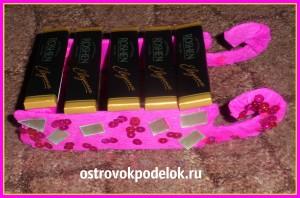 Саночки с конфетами