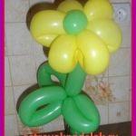 Цветок из воздушного шарика