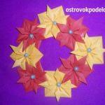 Венок в технике оригами