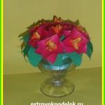 Вазочка с цветами ( мастер класс)