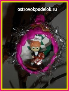 Новогодние игрушки из яичной скорлупы