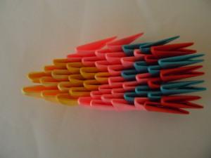 """""""Попугай"""" в технике модульное оригами"""