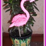 «Фламинго» в технике модульное оригами