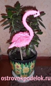 """""""Фламинго"""" в технике модульное оригами"""