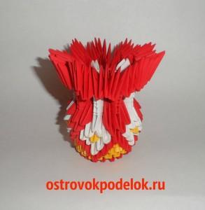 Ваза в технике модульное оригами