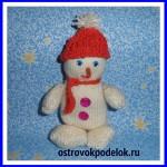 «Снеговик» вязание спицами