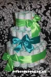 Торт из памперсов. Мастер-класс