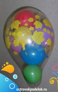 Воздушный шар с сюрпризом