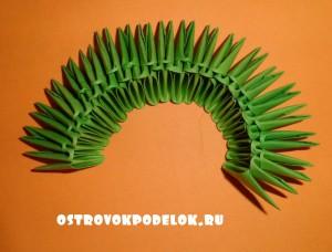 Модульное оригами «Лягушка»