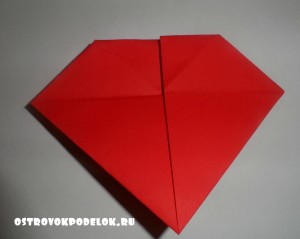 Оригами из бумаги « Сердце»