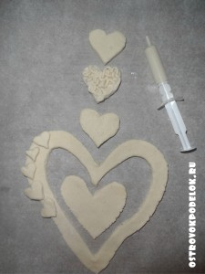 Поделки к дню влюбленных из соленого теста
