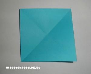 Картина в технике оригами «Влюбленные сердца»