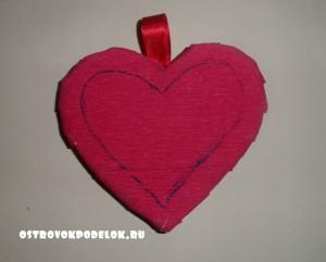 """Топиарий """" Сердце"""" из гофрированной бумаги"""