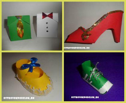 Коробочки для подарков из бумаги + шаблоны