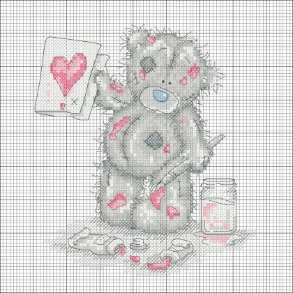 Схемы для вышивки крестом к дню влюбленных.