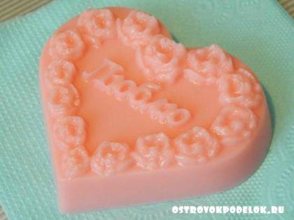 Подарок на День святого Валентина – мыло своими руками