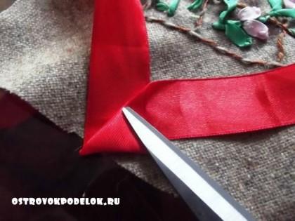 Фото мастер класс по вышивке лентами.