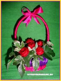 Мыльная корзинка с розами