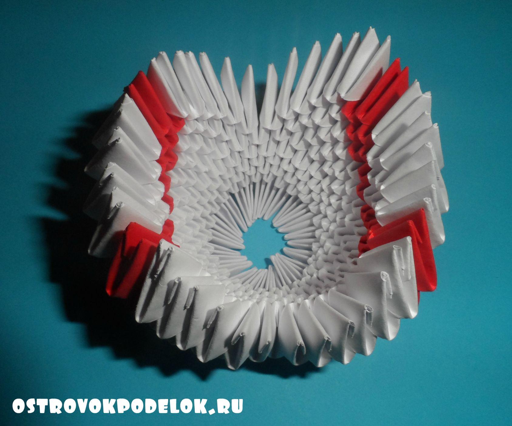 Модульное оригами лебедь схема сборки пошаговое фото