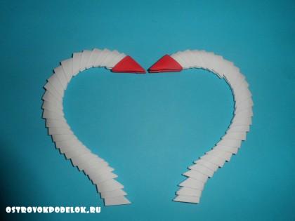 """Мастер класс """"Лебеди"""" модульное оригами"""