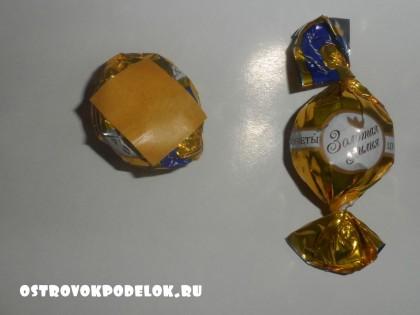 Якорь из конфет