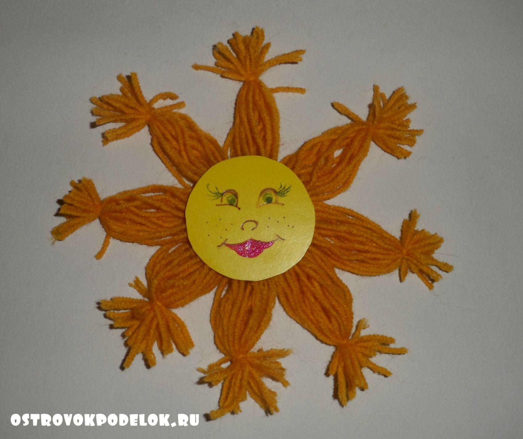 Поделка солнышко своими руками из ниток 86