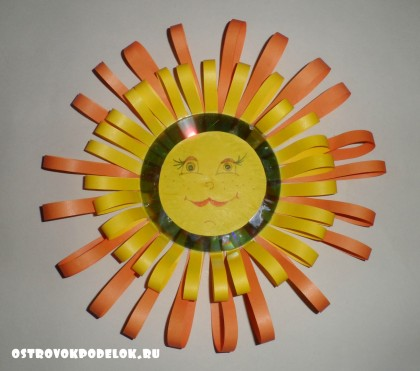 """поделка  к Масленице """" Солнце из бумаги"""""""