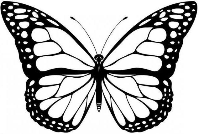 Вырезаем бабочек.