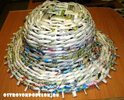 Мастер класс: Шляпа из газетных трубочек