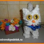 Объемная поделка из ваты: » Мартовский кот»