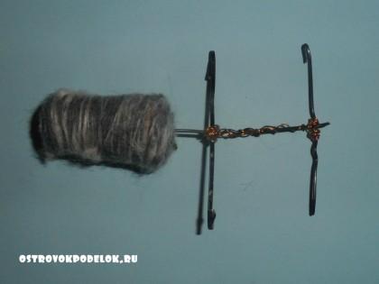 Мастер класс: овечка из пробки и ниток