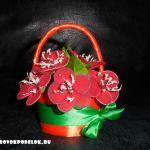 Мастер класс: корзинка с цветами из капрона
