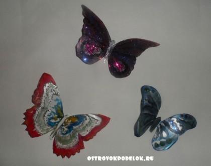 Бабочки из пластиковой бутылки.