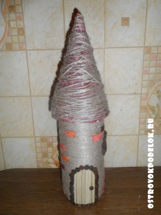 Мастер класс: мельница из шпагата