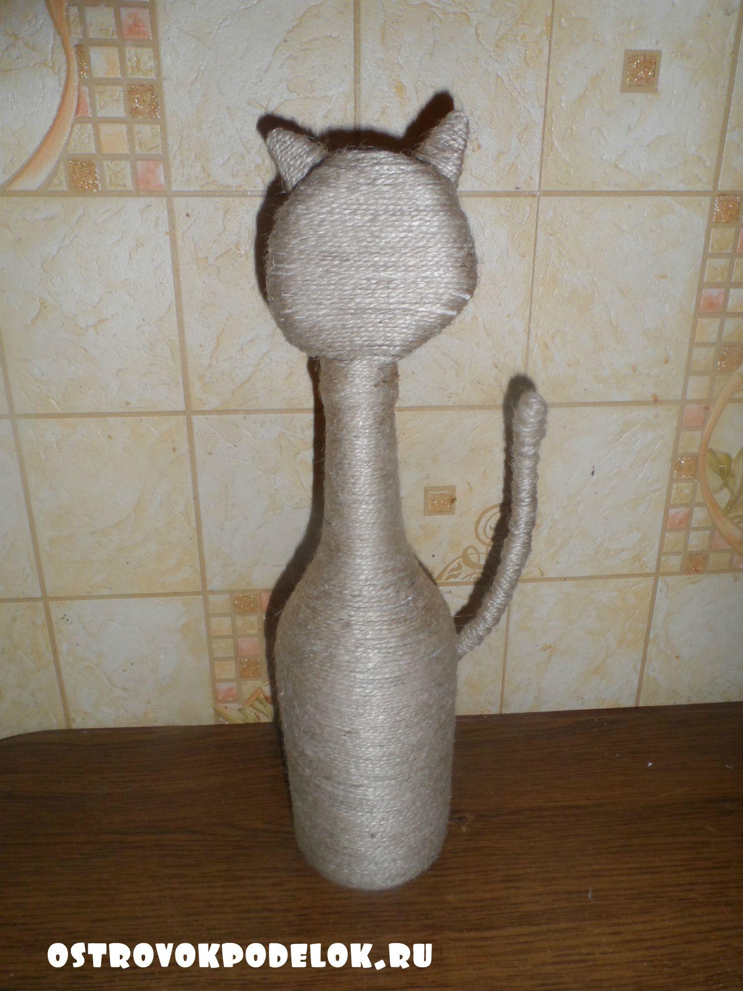 Котик из кофейных зерен своими руками 35