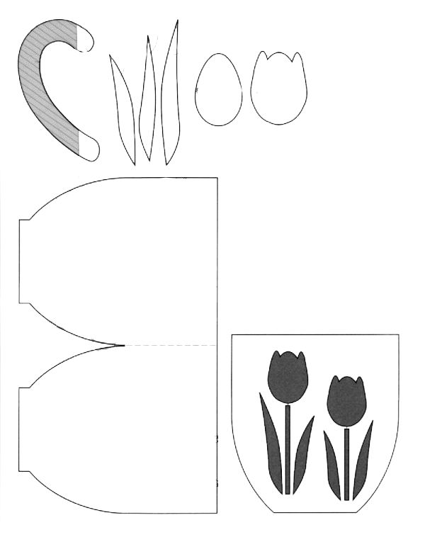 Открытки цветы своими руками шаблоны