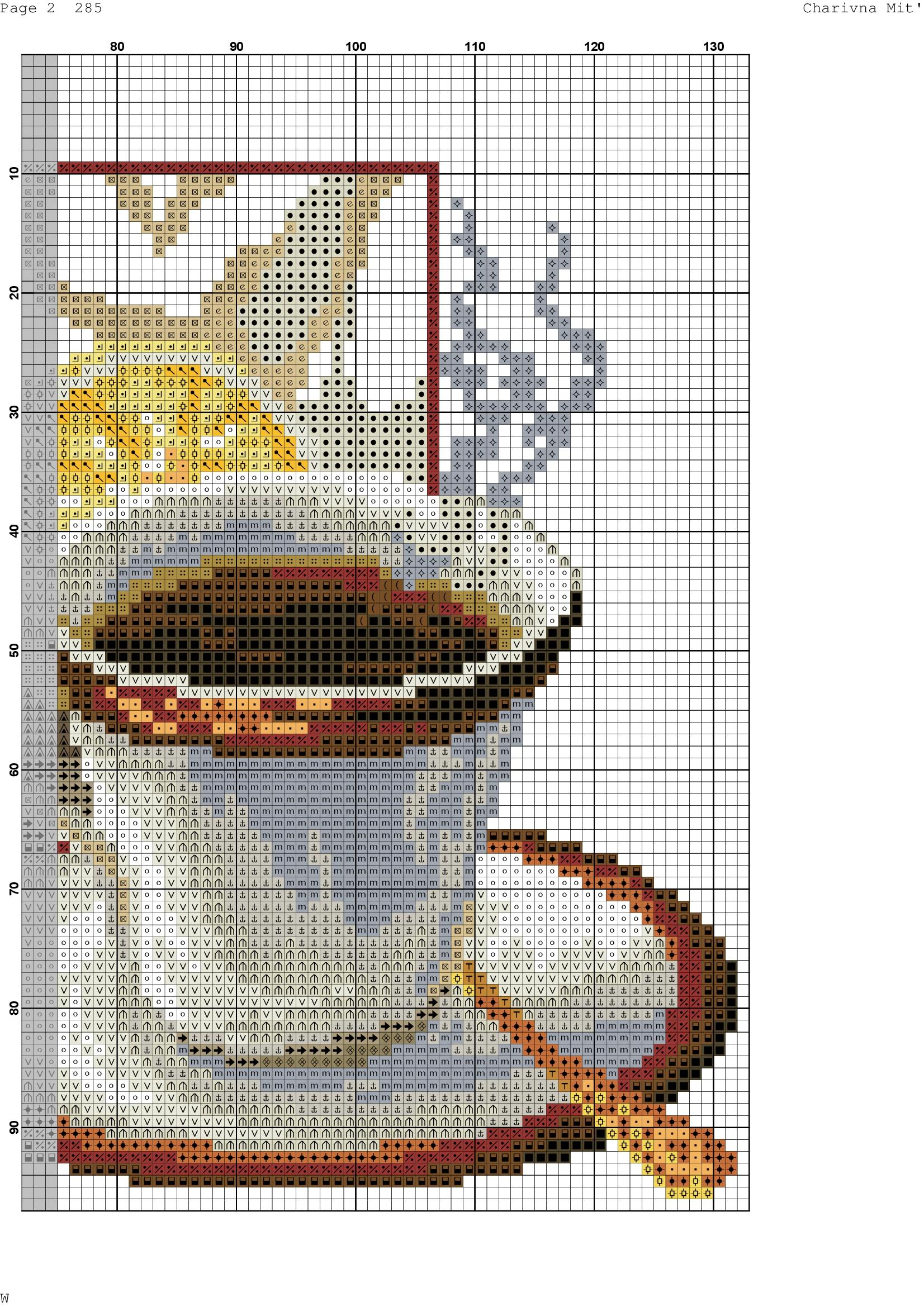 схема вышивки крестом зкофейная ема