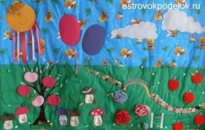 Развивающий коврик для малышей своими руками