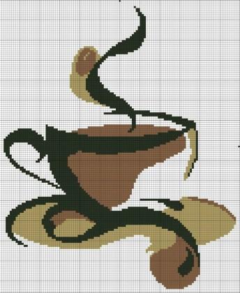 Схемы чай - кофе для вышивки крестом