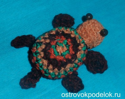 Черепаха-амигуруми