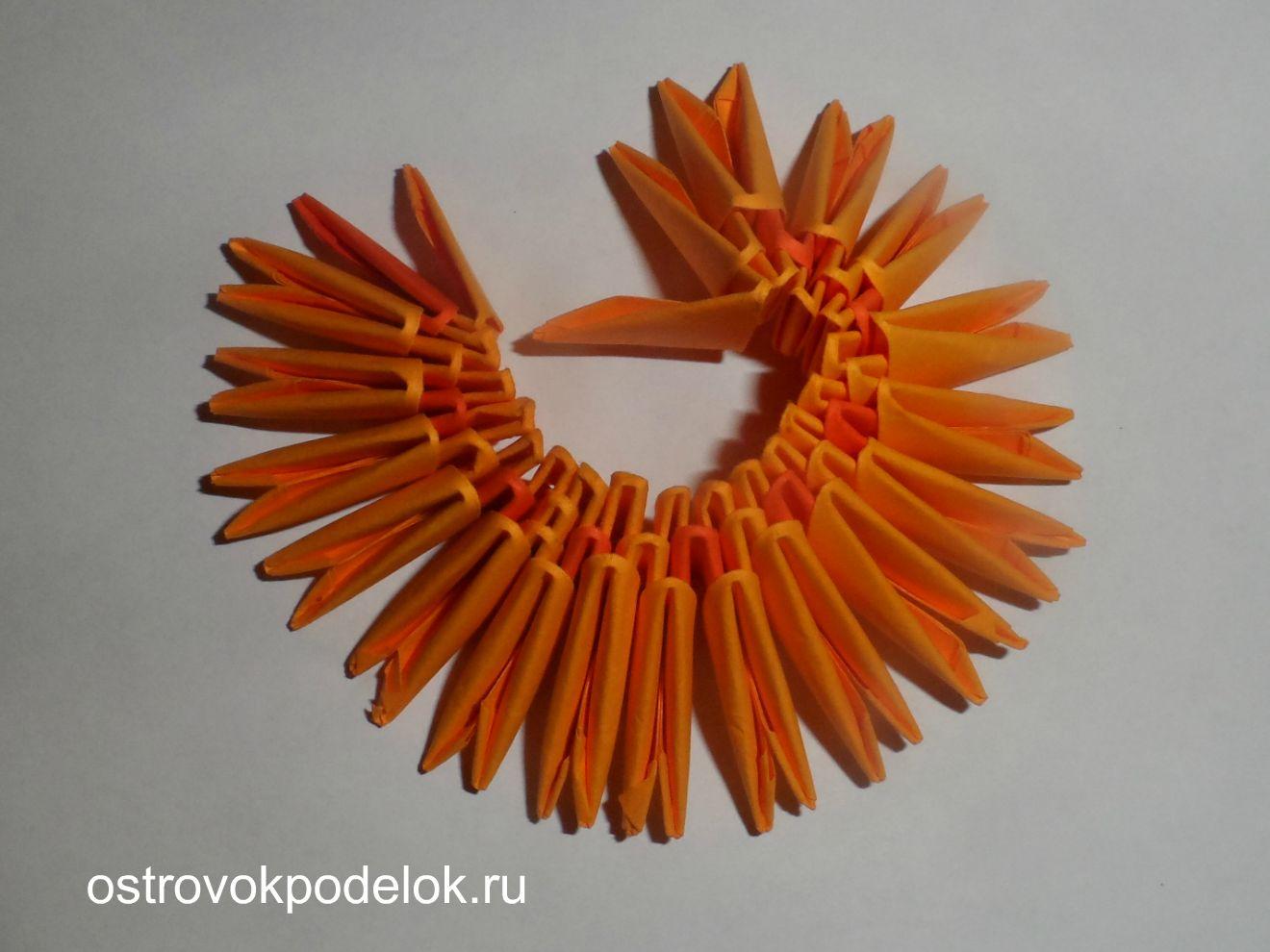 модульное оригами кулич схема