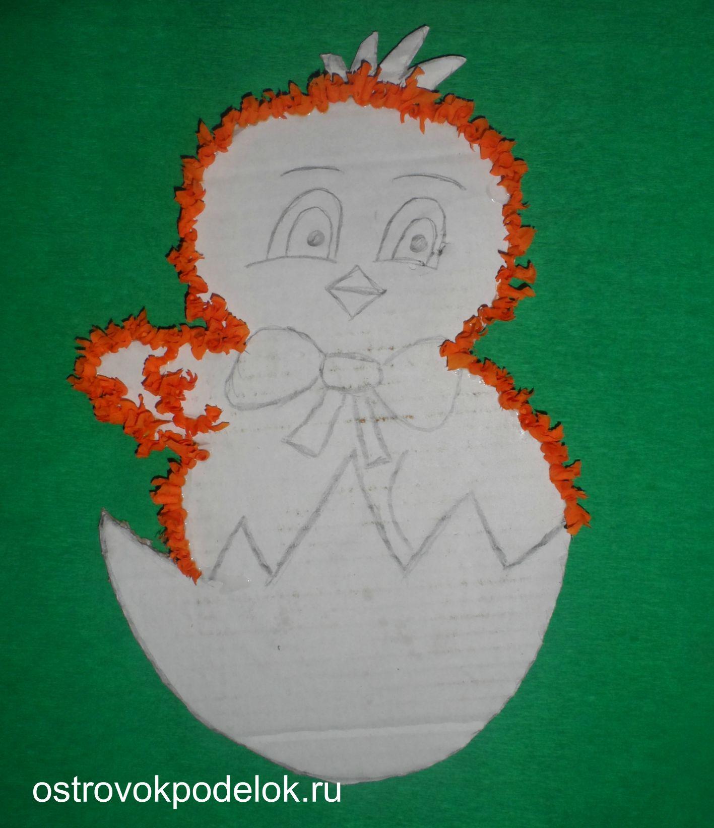 Поделки из бумаги. Подарки к Пасхе Цыпленок - Ecologico 16