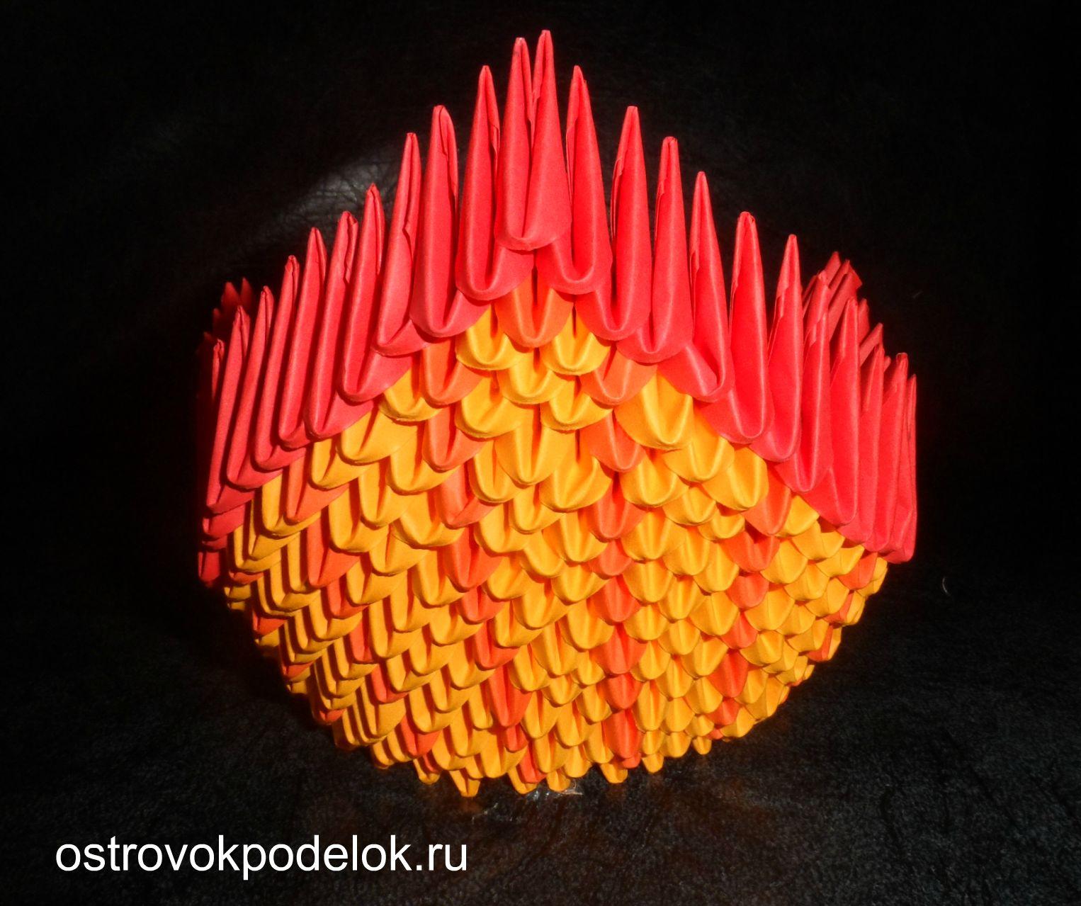 Модульное оригами схема торшера