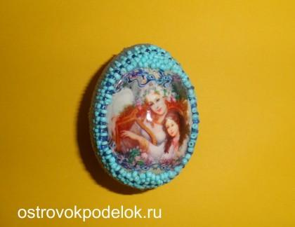 Пасхальное яйцо бисером (мастер класс)