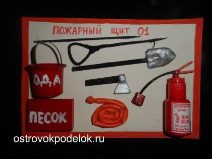 Поделки к дню пожарного: пожарный щит и огнетушитель