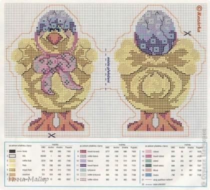 Коллекция пасхальных схем ( вышивка крестом)