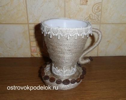 Кофейная чашка из пластиковой бутылки