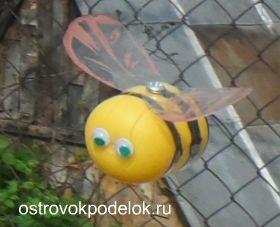 Пчела для сада из пластиковых бутылок своими руками